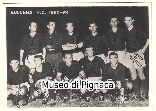 1960-61 cartolina formazione notturna Bologna FC - photo ...