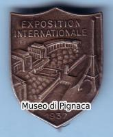 1937 distintivo Exposition International Paris