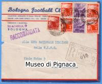 1948 Busta intestata Bologna Football Club (sede Via Altabella 19)