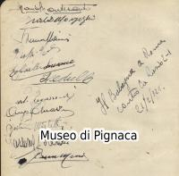Bologna Football Club 1932 autografi calciatori